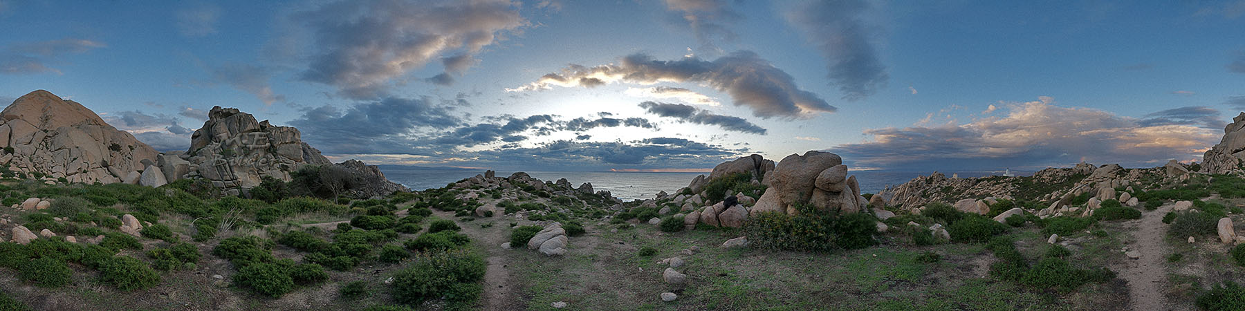 360° Capo Testa auf Sardinen - aus 48 Einzelaufnahmen