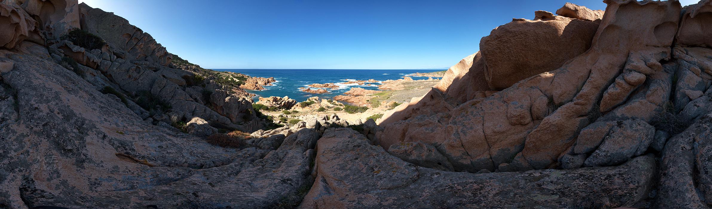 360° Nordwest Küste Sardinen - aus 48 Einzelaufnahmen