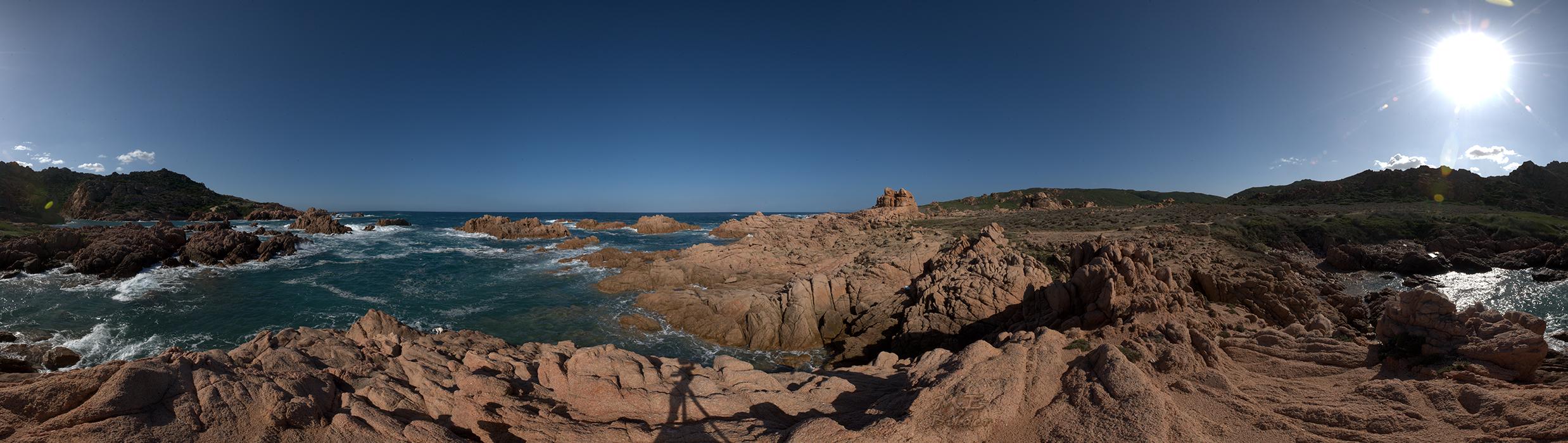 360° Nordost Küste Sardinen - aus 48 Einzelaufnahmen