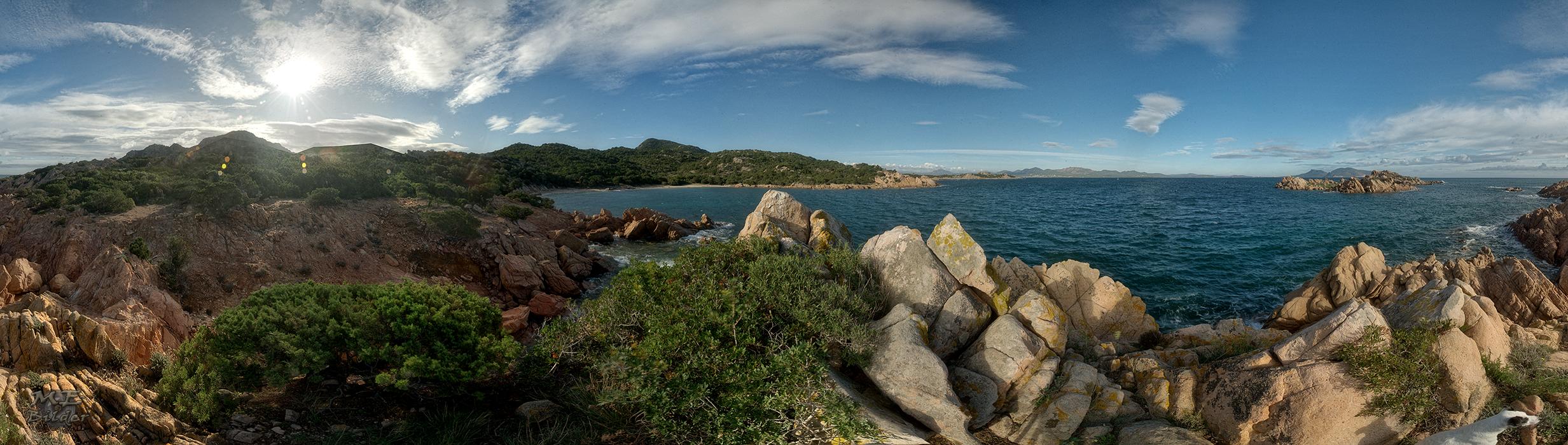 360° Nordost Küste Sardinien - aus 48 Einzelaufnahmen
