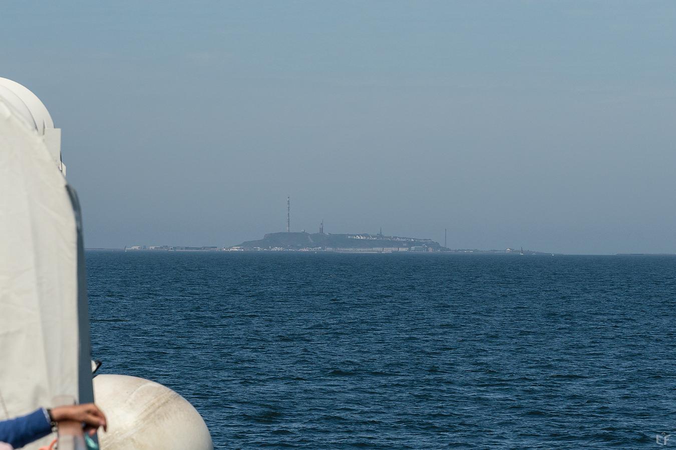 Tag1 Die erste Sicht auf Helgoland