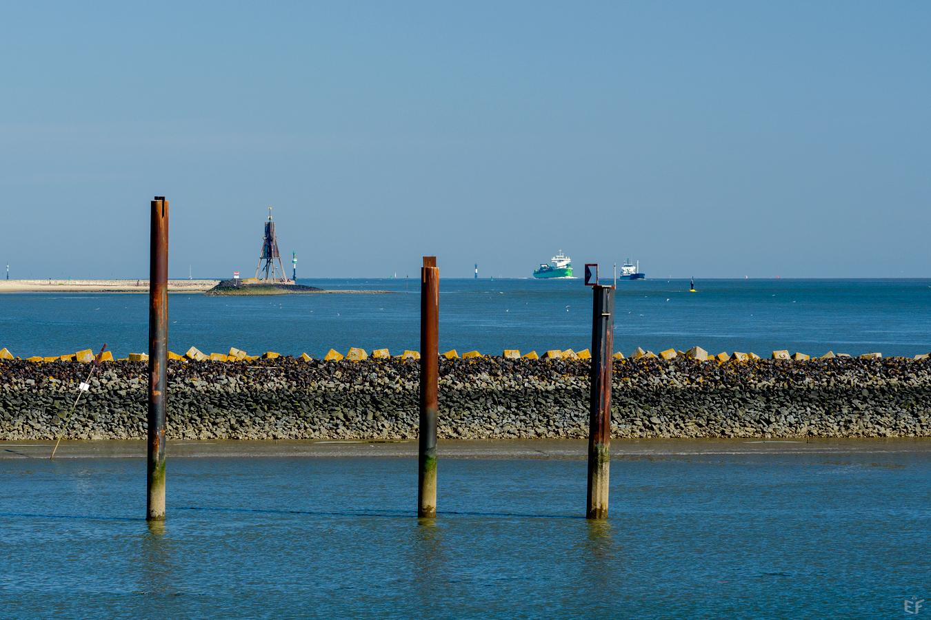 Tag1 Cuxhaven Hafenausfahrt